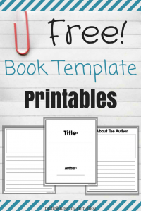 children's book template book template