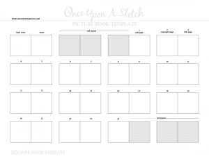 children's book template ouas square page pb template