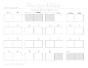children's book template ouas wide page pb template