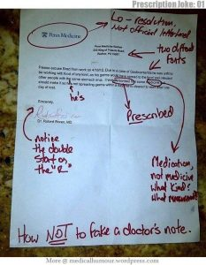 what does a doctor's note look like fake doctors note