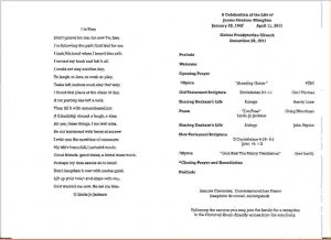 what does a doctor's note look like funeral service program memorialserviceprograminside jpg