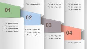 page marketing plan numbered vertical banner powerpoint
