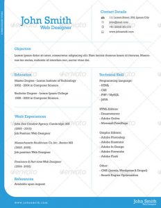 page resume template one page resume