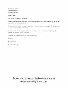 week notice letter template vague two weeks notice letter template comp