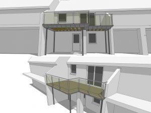 d drawing l shaped balcony d dwg