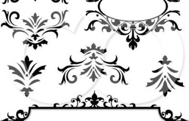 d wall art digital collage of vintage black and white frames and design elements poster art print