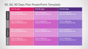 day plan template powerpoint days plan powerpoint template