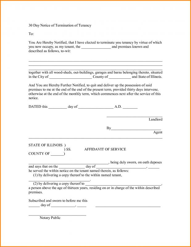 30 day eviction notice template