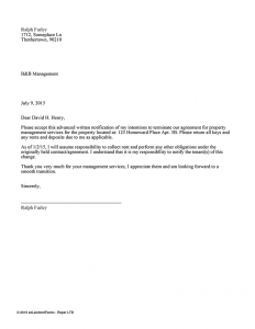 day notice to landlord california template