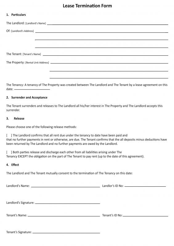 30 Day Notice To Landlord California Template | Template Business