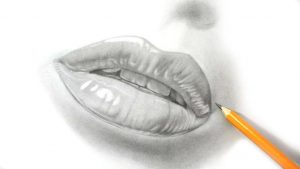 d pencil drawings drawing with pencil how i draw lips realistic pencil drawing youtube