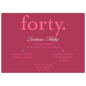 th bday invitation forty pink th birthday invitations p p z