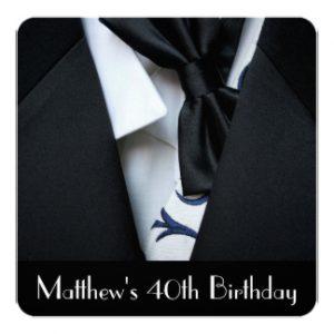 th birthday invitations for him black tuxedo mens th birthday party invitation rdfefbbaefdd zkf