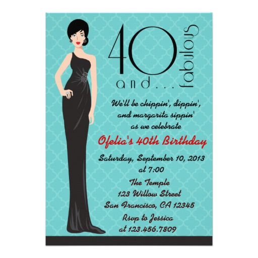 40th birthday invitations for him