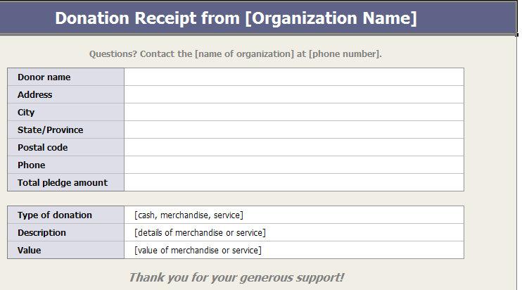 501c3 donation receipt
