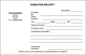 c tax deductible donation letter church donation receipt template