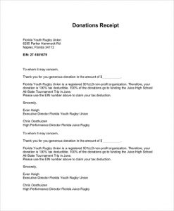 c tax deductible donation letter donation tax receipt letter