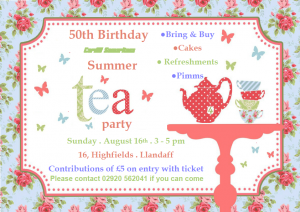 th birthday invitation template tea party poster