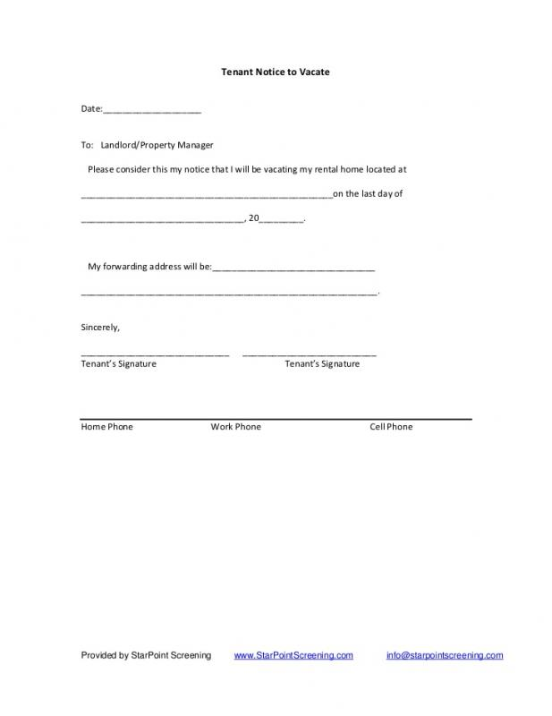 60 day notice to terminate tenancy letter