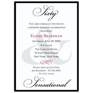 th birthday invitation z