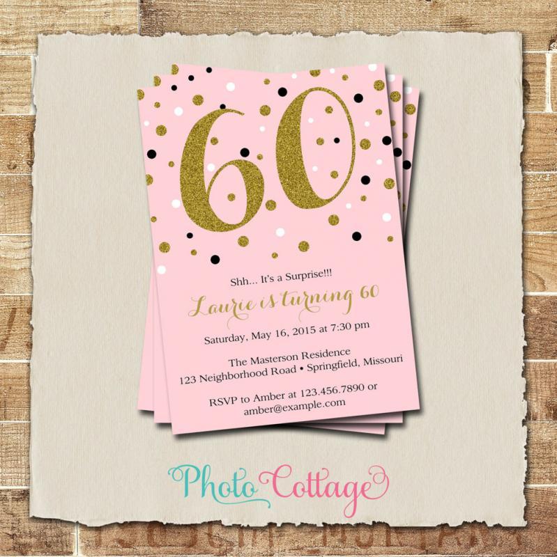 60 th birthday invites