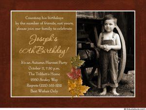 th birthday invites fall leaves photo birthday invitation th man