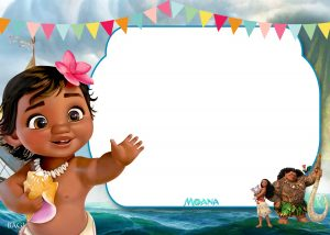 th bday party invitations free printable little moana st birthday invitation