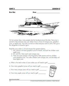 th grade algebra problems boat ride