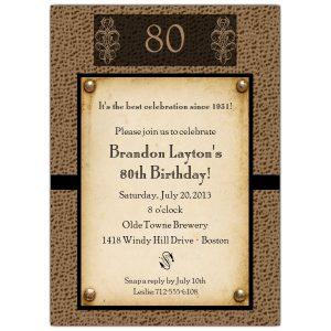 th birthday invitation ab z