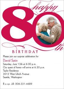 th birthday invitation cd z