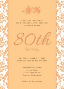 th birthday party invitations canva orange floral patterned th birthday invitation macekxnmova