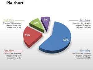 day action plan business comparison pie chart powerpoint graph slide