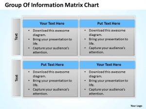 day action plan business process consulting group of information matrix chart powerpoint templates slide