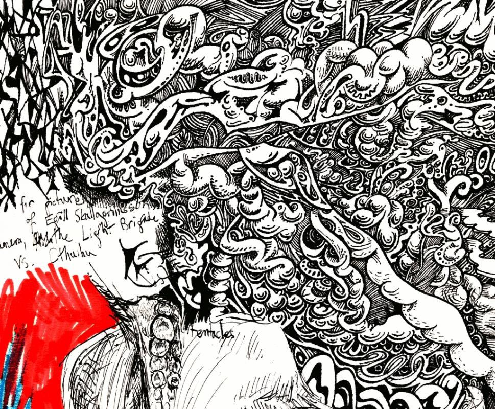abstract pencil drawings