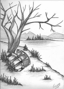 abstract pencil drawings pencil drawing of natural scenery simple pencil drawings nature pictures of drawing sketch pencil
