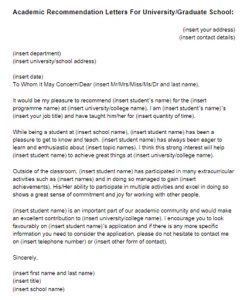academic recommendation letter recommendation letter for college template dnaptha