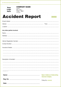 accident reporting template accident report sheet a set pad book