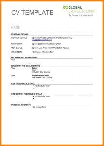 account plan templates blank cv templates free download