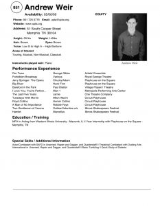 acting resume examples resume templates new c
