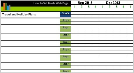 action planning template excel