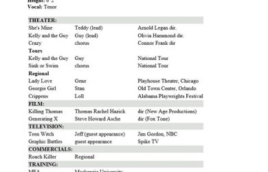 actors resume template professional acting resume template