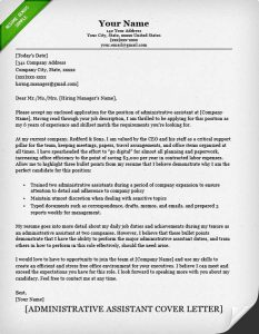 admin assistant cover letter administrative assistant cover letter classic