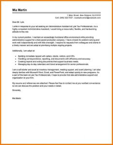 administrative assistant cover letter administrative assistant cover letter sample administration office support administrative assistant traditional 800x1035