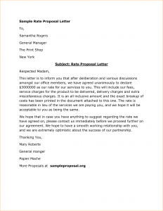 agreement letter sample how to write proposal letter