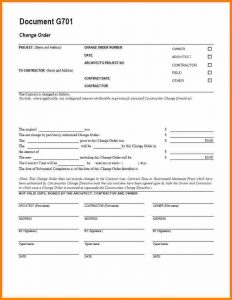 aia change order form change order form template aia g change order