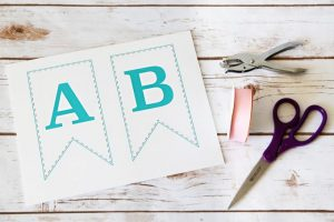 alphabet letters template baby shower bunting banner x