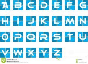 alphabet letters template blue initial alphabet corporate logo pick your letter template