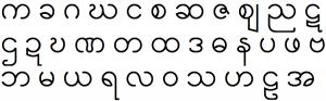 alphabet letters template burmese alphabet compact