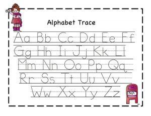 alphabet letters template traceable letter worksheets a z