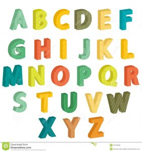 alphabet letters to color colorful letters